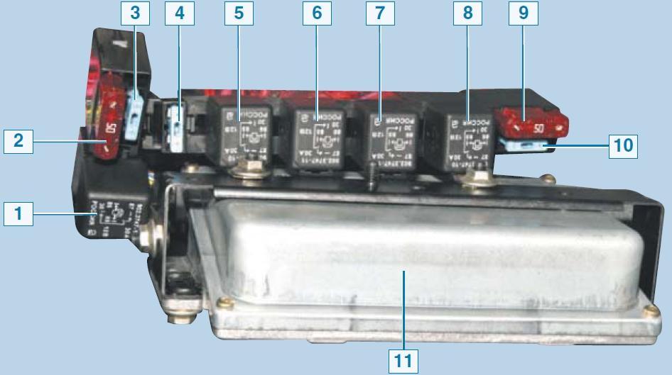 Замена реле и предохранителей системы управления двигателем Шевроле Нива